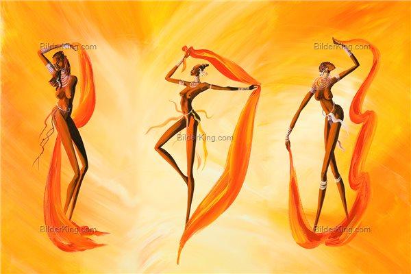 Wandbild - Mia Morro : Nackte Frauen tanzen - Wandbilder